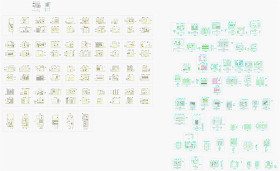 各类柜子CAD设计图