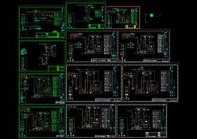 各種電機控制原理圖CAD機械圖紙