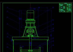 立軸式攪拌機裝配圖CAD機械圖紙