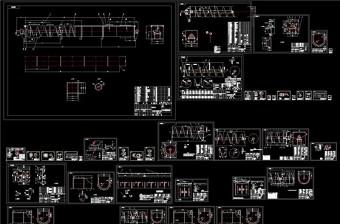 螺旋输送机全套制作图CAD机械图纸