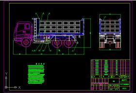 自卸汽车组装图CAD图纸