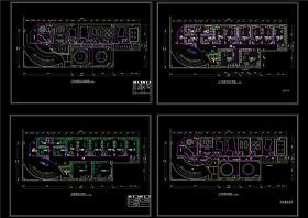 KTV包箱装修平面图CAD图纸