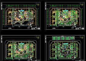 一套細園林廣場施工詳圖CAD景觀圖紙