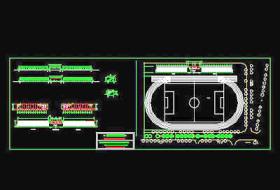 操場看臺設計CAD設計施工圖紙
