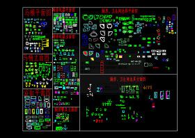 厨房卫生间CAD图库图片