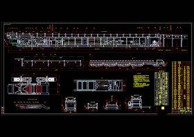 可伸縮皮帶輸送機CAD機械圖紙