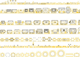 CAD平面常用家具