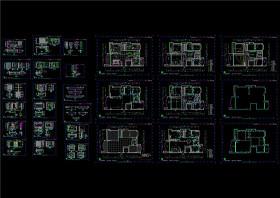 详细的家装施工图CAD图纸