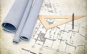 工程建筑CAD图纸和尺子