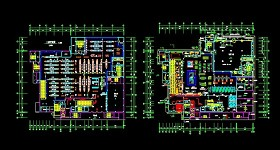 某大型超市CAD规划平面方案设计图