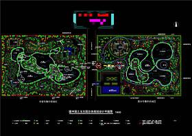 玉蘭園總體設計平面圖CAD景觀圖紙