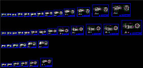 R系列不同尺寸减速机CAD机械图纸