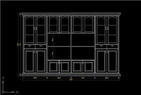 书柜CAD图