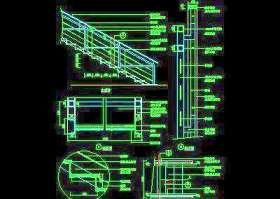 木楼梯、铁艺楼梯、旋转楼梯、现代式楼梯、楼梯扶手CAD图块42