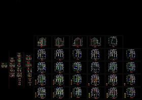 三层别墅施工图全集CAD图纸