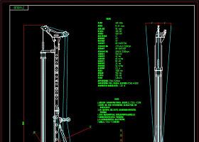 挖钻机CAD机械图纸