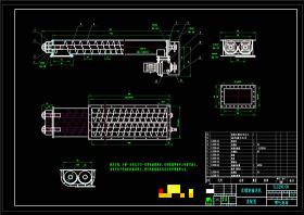 双螺旋输送机总图CAD机械图纸