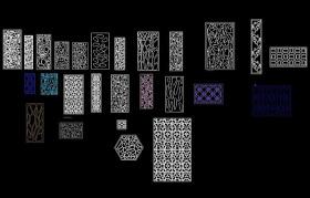 中式歐式花紋密度板雕花CAD圖庫