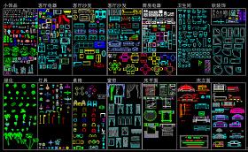 CAD平面图库图片