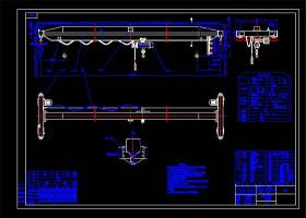 A型電動單梁起重機CAD機械圖紙