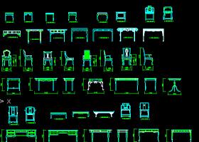 CAD中式家具室內素材