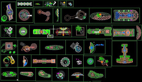 園林景觀小景設計CAD詳圖