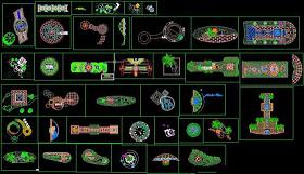 园林景观小景设计CAD详图