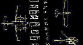 CAD图块图库之汽车飞机图库