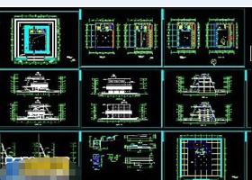 某博物馆建筑cad施工全套工程图纸