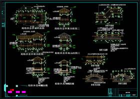 廊亭桥施工图CAD景观图纸