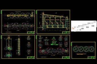 粉磨站水泥库与配料库套图CAD机械图纸
