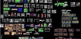 常用CAD图块-柜子类