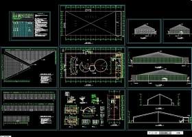 海珍品养殖大棚CAD建筑图