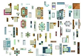 CAD家具图块图片