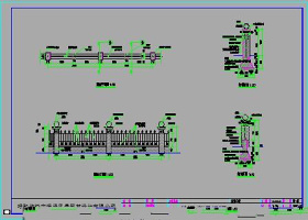 一套很完整的围墙CAD施工图