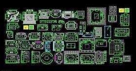 CAD沙发图块