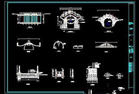 景观拱桥CAD施工详图