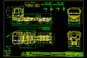 奔驰汽车图纸(卡车)CAD图纸
