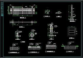 園林式圍墻設計cad詳細施工圖