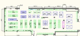 超市貨架CAD平面圖圖片