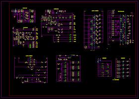 电梯电气控制电路图CAD图纸