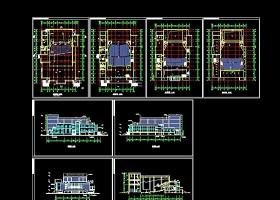 某市政报告厅CAD建筑设计方案图纸