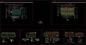 放映室平立面装修图CAD图纸
