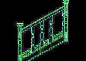 木楼梯、铁艺楼梯、旋转楼梯、现代式楼梯、楼梯扶手CAD图块28