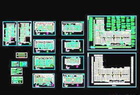大型商场消防图纸CAD详图经典实例