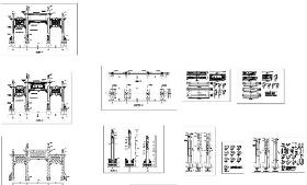 府城大门施工CAD图