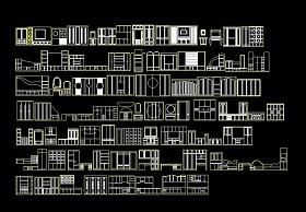 室内装修上百种家具CAD模块图纸