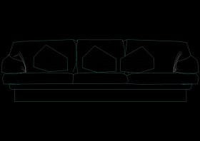 设计沙发图块cad素材