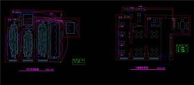 美容学校一楼CAD灯具线路CAD图纸