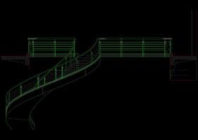 旋转楼梯cad图纸